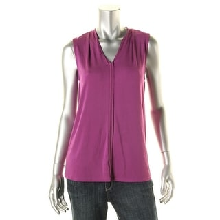 Classiques Entier Womens Sleeveless V-Neck Pullover Top - XS