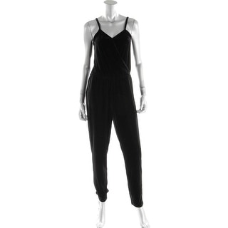 Design History Womens Velour Pull On Jumpsuit