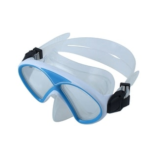 Water Sports Adjustable Tempered Glass Lens Diving Swimming Mask Goggles Blue