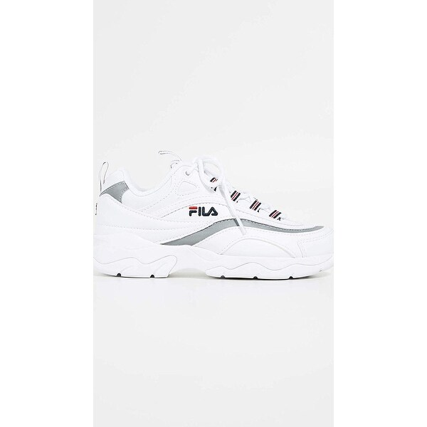Shop Fila Womens Ray Leather Low Top Lace Up Fashion