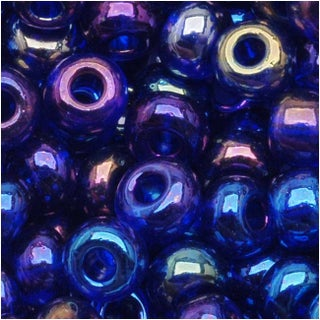 Czech Seed Beads 6/0 Cobalt Blue AB (1 Ounce)