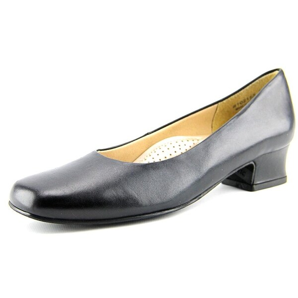 Mark Lemp By Walking Cradles Callie Women N/S Square Toe Leather Black Heels