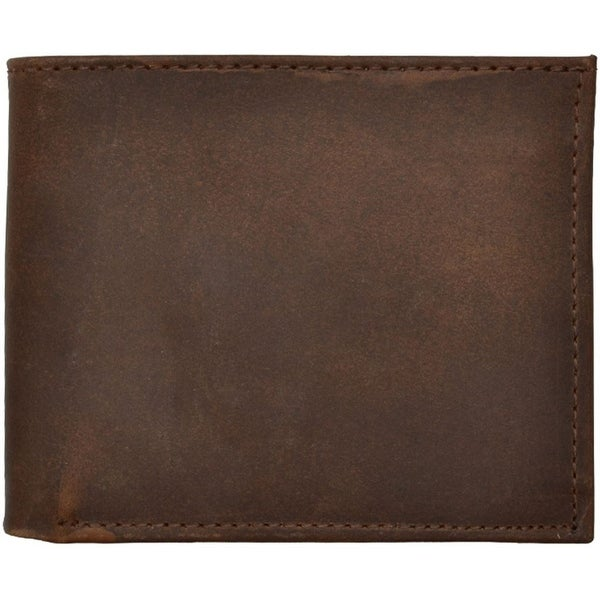 3D Western Wallet Mens Bifold Distressed Leather Brown - One size