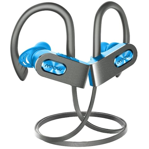 Mpow Flame2 Wireless Sport Headphones, CVC6.0 Noise Cancelling Earbuds with Mic and Slanting Design Black/Blue/Pink/Red