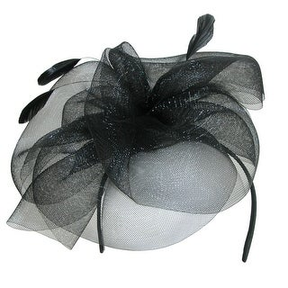 Jeanne Simmons Women's Feathered Disk Fascinator Headband