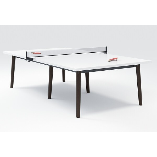 """Olio Designs Della Laminate Ping Pong Table - 29"""" H x 60""""W x 108"""" D. Opens flyout."""