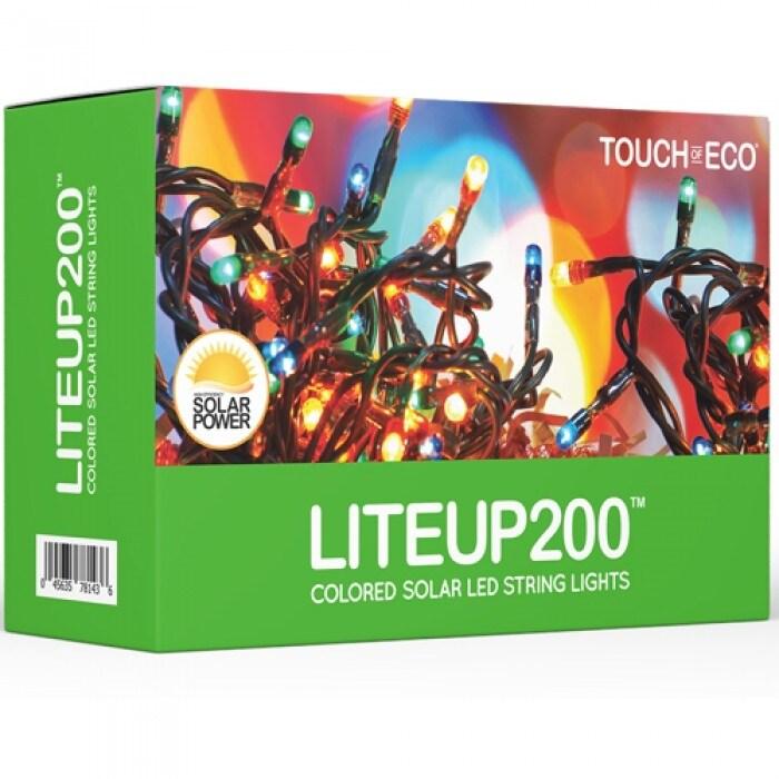 Liteup200 Solar LED String Lights White or Multi-Color - Thumbnail 6