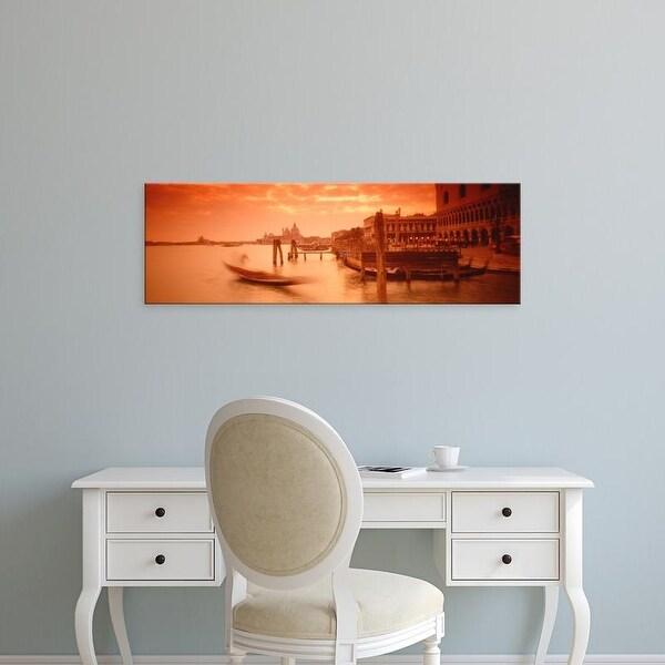 Easy Art Prints Panoramic Images's 'Saint Mark's Basin,Venice Italy' Premium Canvas Art