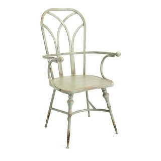 "IMAX Home 19232  Georgette 22-1/2"" Wide Iron Occasional Chair - Green"