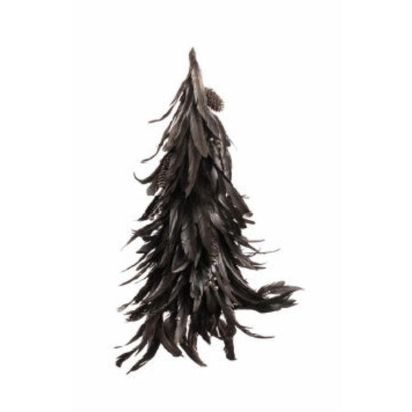 "21"" Lush Adorned Bronze Feather Cone Christmas Tree"