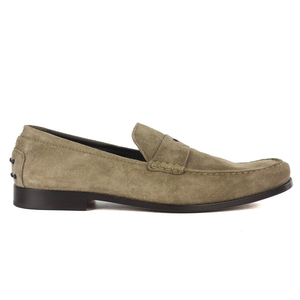 6c37812a106 Shop Tod s Men s Grey Slip On Suede Penny Loafers - Free Shipping ...