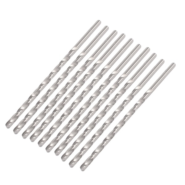 Unique Bargains 2mm x 100mm Metal Marble Drilling High Speed Steel Spiral Drill Bits 10 Pcs