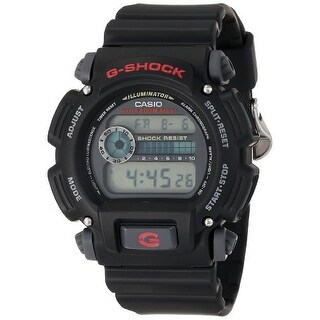 casio DW90521VCFB Casio Mens DW9052-1V G-Shock Black Stainless Steel and Resin Digital Watch