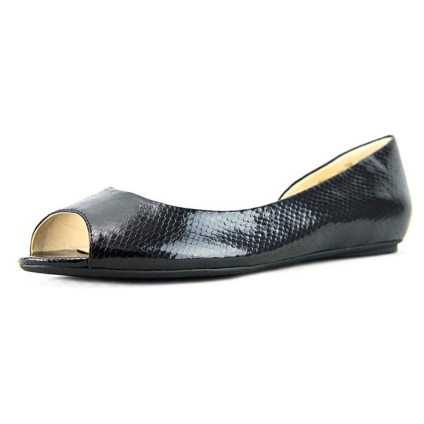 Nine West Bachloret   Peep-Toe Synthetic  Flats