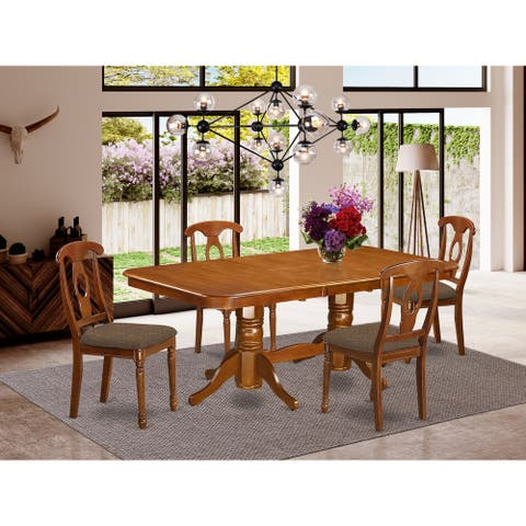 5 Pc Dining room set for 4-rectangular Table and 4 Chairs (Finish Option)