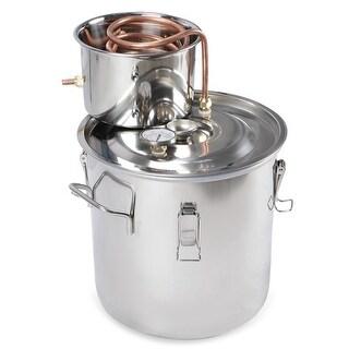 Arksen 5 Gallon 18L Water Distiller Wine Alcohol Stainless Steel Boiler Wine Making Equipment Kit