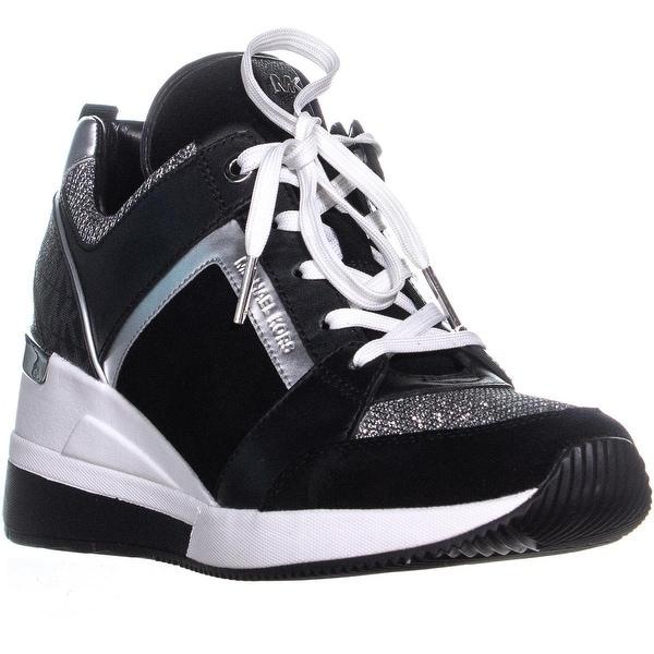 13821ecded2 Shop Michael Kors Georgie Wedge Fashion Sneakers