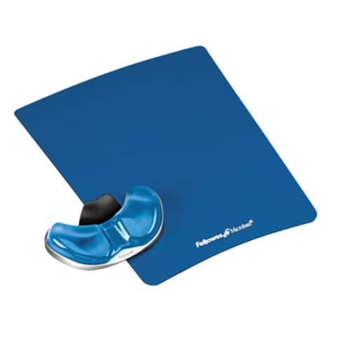 Fellowes Mouse Pad, Gliding Palm, Gel, Blue Microban Protection