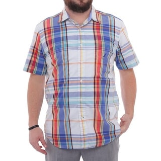 Nautica Short Sleeve Collared Casual Button Down Men Regular Casual