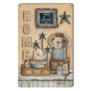 Penny Lane LANE099 Home Love Satin Metal Sign - 12 x 18 in.