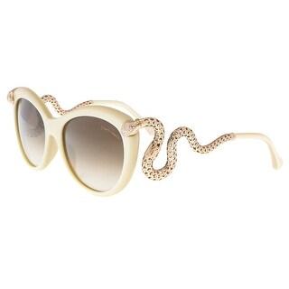 Roberto Cavalli RC889S 5625F MENKAB Cream Round Sunglasses - 56-17-135