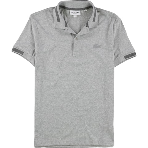 Lacoste Mens Contrast Stripe Rugby Polo Shirt