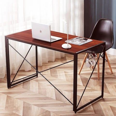 NOVA FURNITURE Folding Home Office Computer Desk for Dormitory and Urban Apartment