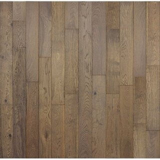 "Mountain Range - 5-7/8"" Engineered Hardwood Flooring - Handscraped White Oak Wood - Sold by Carton (28.5 SF/Carton) - N/A"