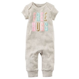 Carter's Baby Girls' Free Hugs Jumpsuit, 12 Months