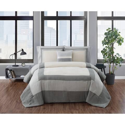 London Fog Dartford Microsuede Comforter Set