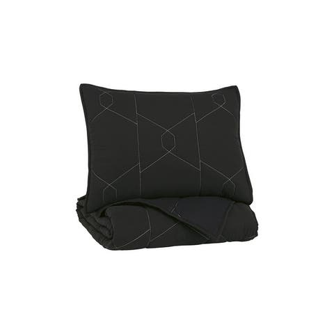 Meliora Contemporary Youth Black/White/Gray Quilt Set