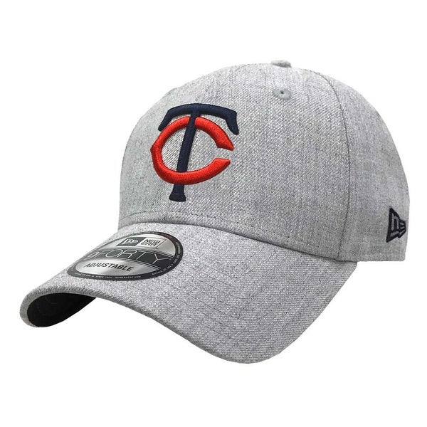 competitive price 4582a 12f1d Shop New Era 2019 MLB Minnesota Twins Baseball Cap Hat 9Forty Adjust  Heather Gray - Free Shipping On Orders Over  45 - Overstock - 27093345
