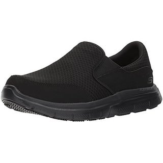 Skechers For Work Men's Flex Advantage Mcallen Food Service Shoe,Black,11 Extra Wide Us