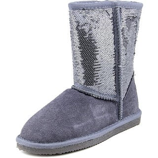 Lamo Kids Sequin Boot Youth Round Toe Suede Gray Winter Boot
