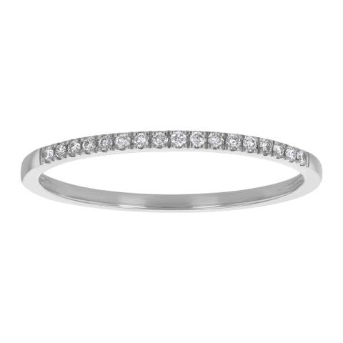 14K Gold Diamond Classic Anniversary Band Ring by Beverly Hills Charm