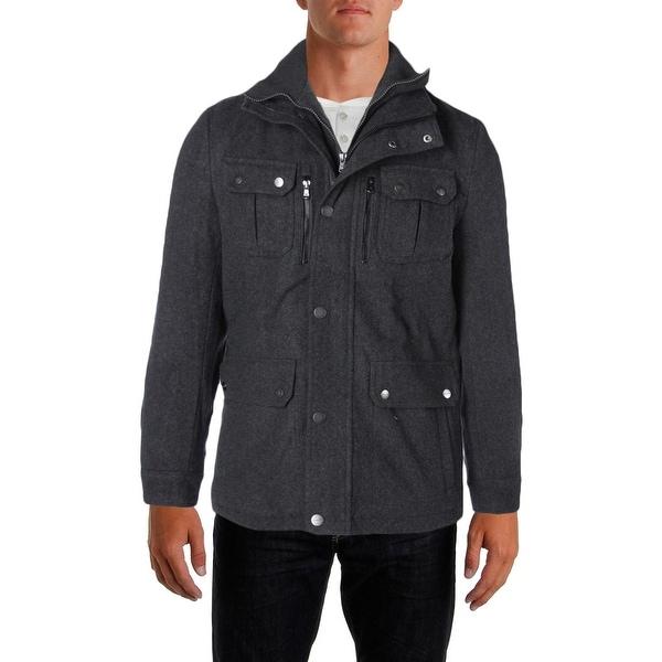 103c64016d0e Shop Michael Kors Mens Field Coat Wool Attached Bib - Free Shipping ...