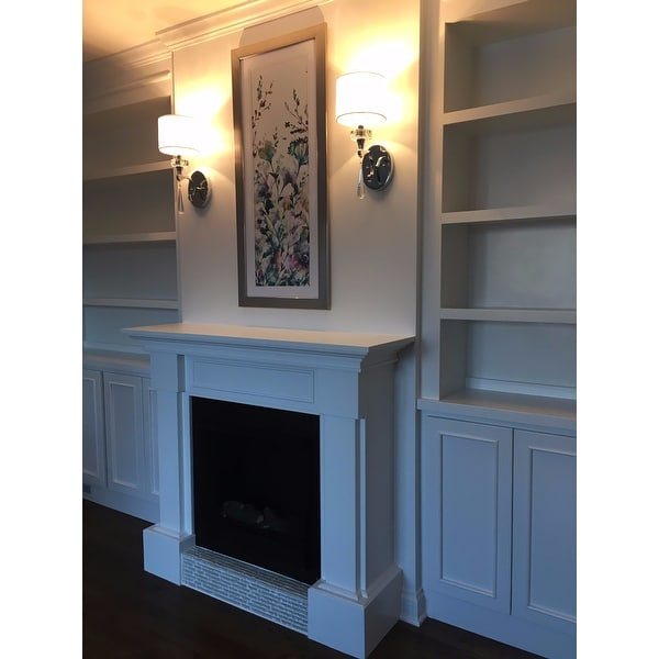 real flame hillcrest white 484 in l x 139 in d x 396 in h gel fuel fireplace free shipping today