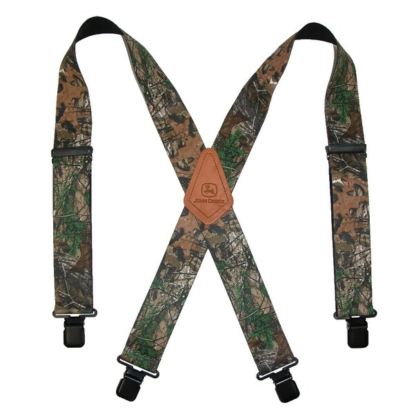 John Deere Men's Realtree Camouflage Clip-End Suspenders - One size