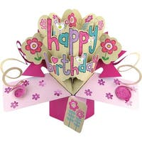 Happy Birthday - Pop-Up 3D Greeting Card 1/Pkg