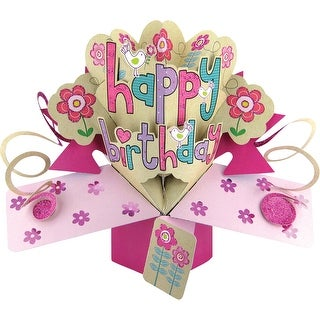 Pop-Up 3D Greeting Card 1/Pkg-Happy Birthday