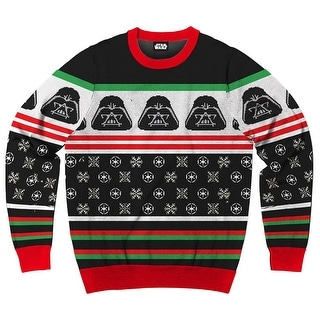 Ugly Christmas Sweater Men.Star Wars Darth Vader Simply Men S Ugly Christmas Sweater Overstock Com Shopping The Best Deals On Crew Neck Sweaters