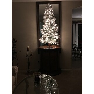 5-foot x 31-inch Dura-Lit 250 Clear Lights 478 Tips Flocked Spruce