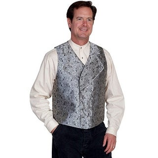 Scully Western Vest Mens Double Breasted Scroll Paisley