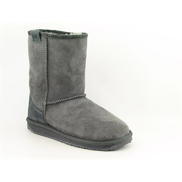 Emu Australia Stinger Lo Women Round Toe Suede Gray Winter Boot