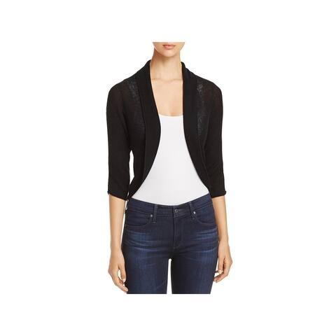 Elie Tahari Womens Shelby Crop Sweater Wool 3/4 Sleeves