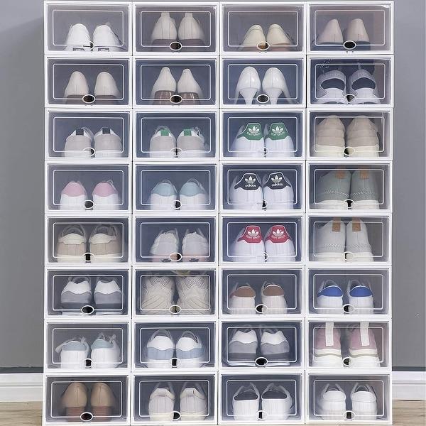 Clear Plastic Stackable Shoe Storage