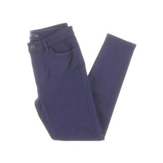 Lauren Ralph Lauren Womens Colored Skinny Jeans High Rise Premier