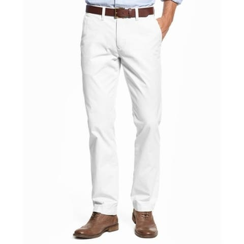 7dc6f1c769 Tommy Hilfiger White Mens Size 44 Classic Fit Chinos Stretch Pants
