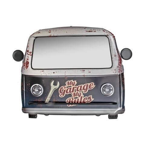 Vintage Metal Car Shape Mirror (my Garage My Rules)