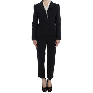 BENCIVENGA Black Cotton Stretch Suit